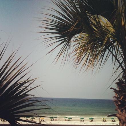 Beach view from our Destin beach house