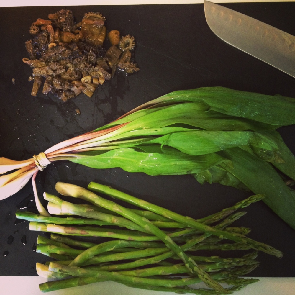Ramps + Morels + Asparagus = Spring Risotto (1/6)