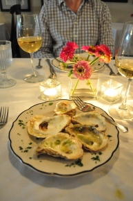 I couldn't wait to eat the (baked) oysters before taking this picture at the Inn.