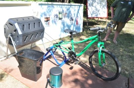 You can use this bike to turn compost at the Food for Thought Festival.